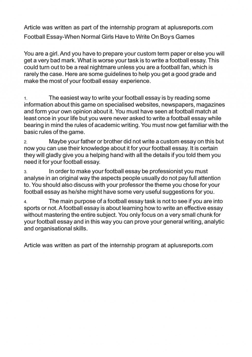 011 Essay Example On Football Top Match For Class 7 Player Large