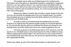 011 Essay Example On Football Top Match For Class 7 Player