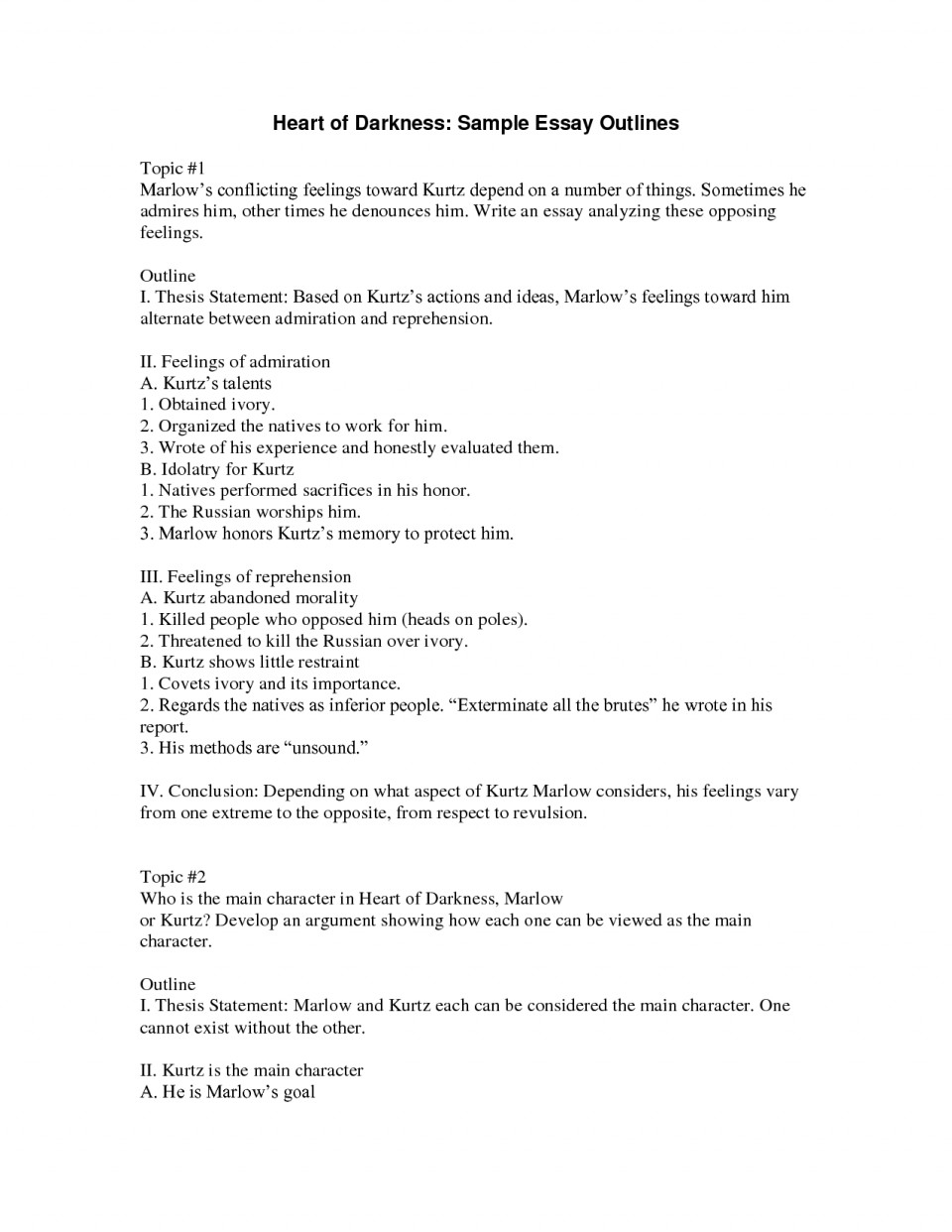011 Essay Example Outline For Best Photos Of Types Outlines And Samples Research An L Marvelous Worksheet Format Paper Introduction 960