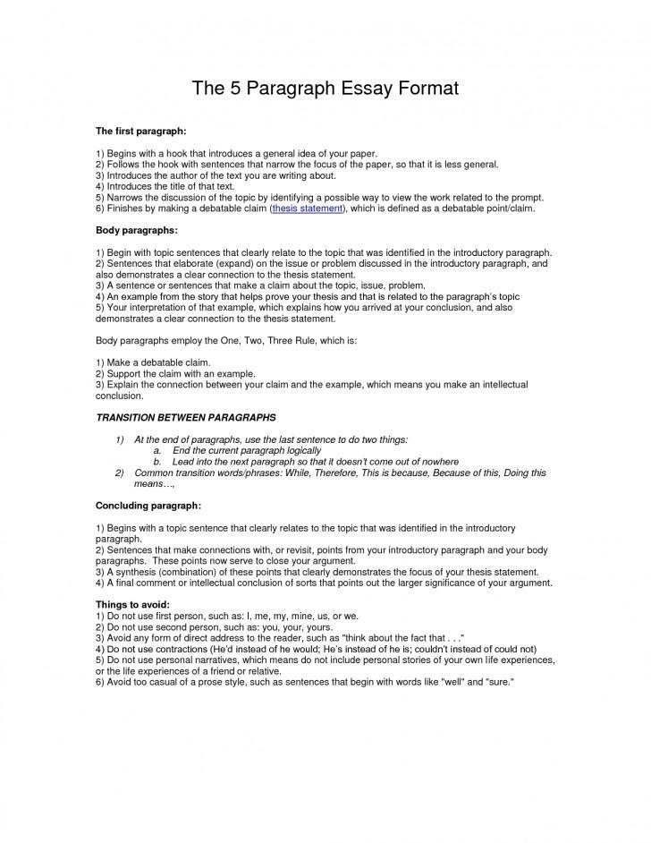 011 Essay Example Paragraph Outline Best Photos Of Format Write L Impressive 5 Five Template Pdf Argumentative 728