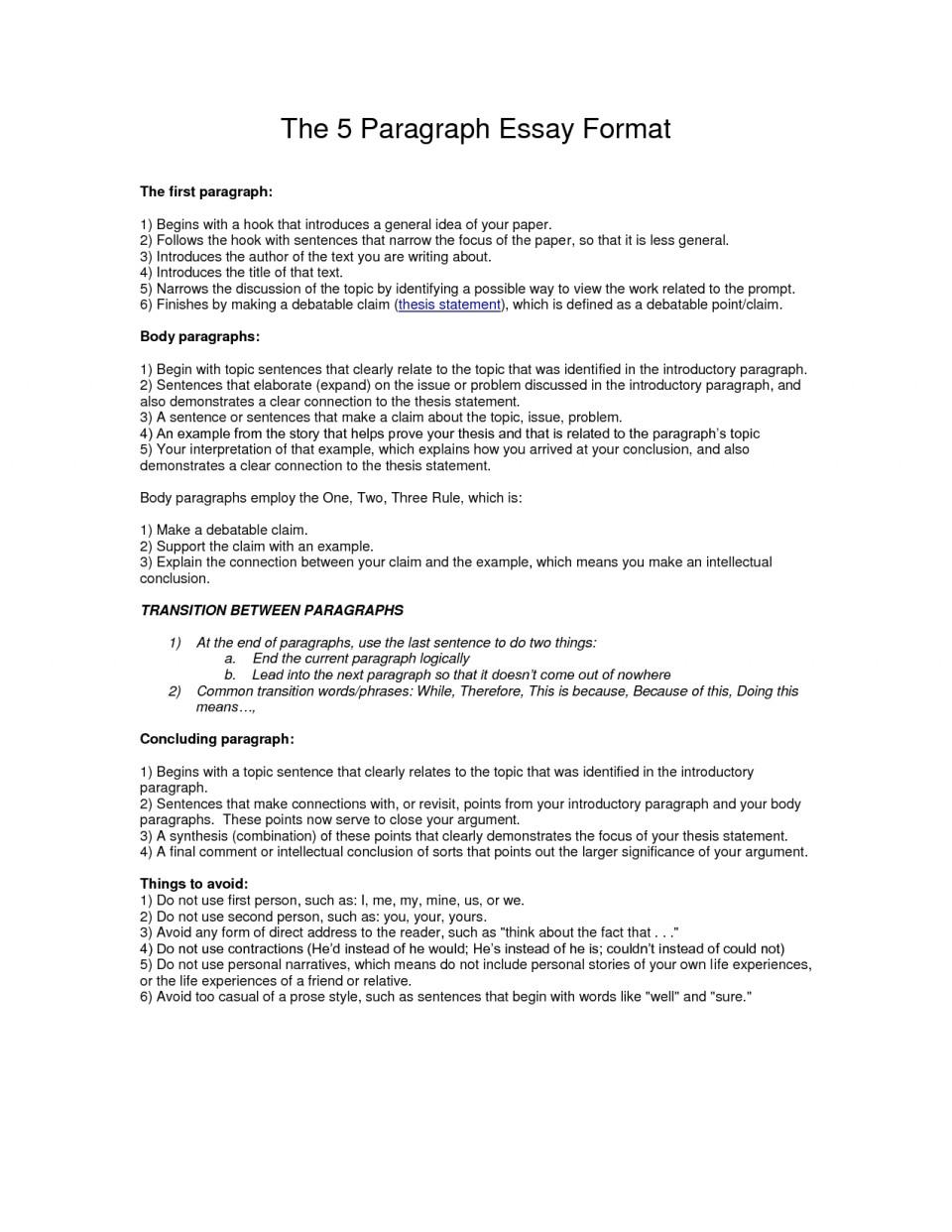 011 Essay Example Paragraph Outline Best Photos Of Format Write L Impressive 5 Five Template Pdf Argumentative 960