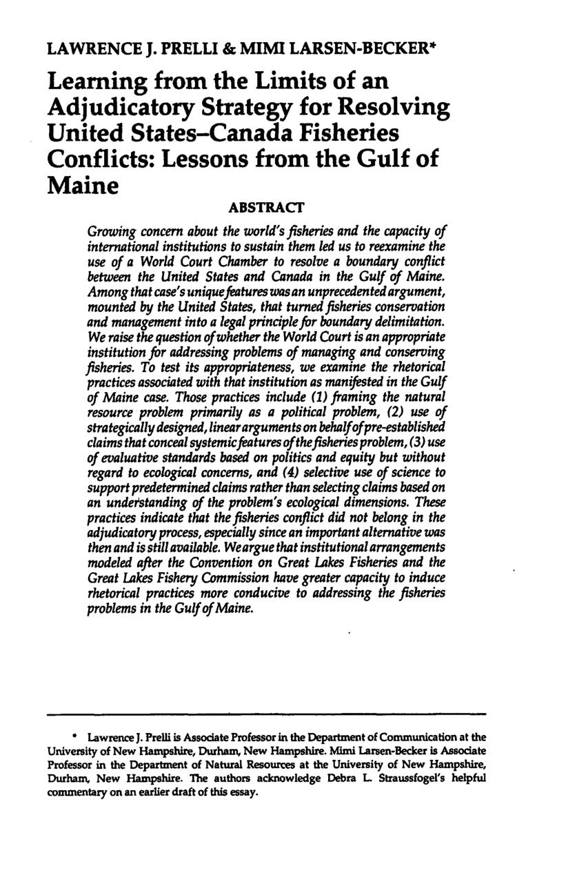 Conflict resolution essays