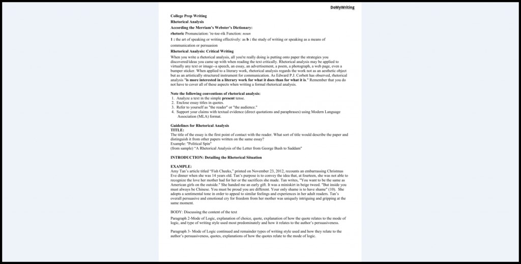 011 Essay Example Rhetorical Definition Analysis Dreaded Meaning Large
