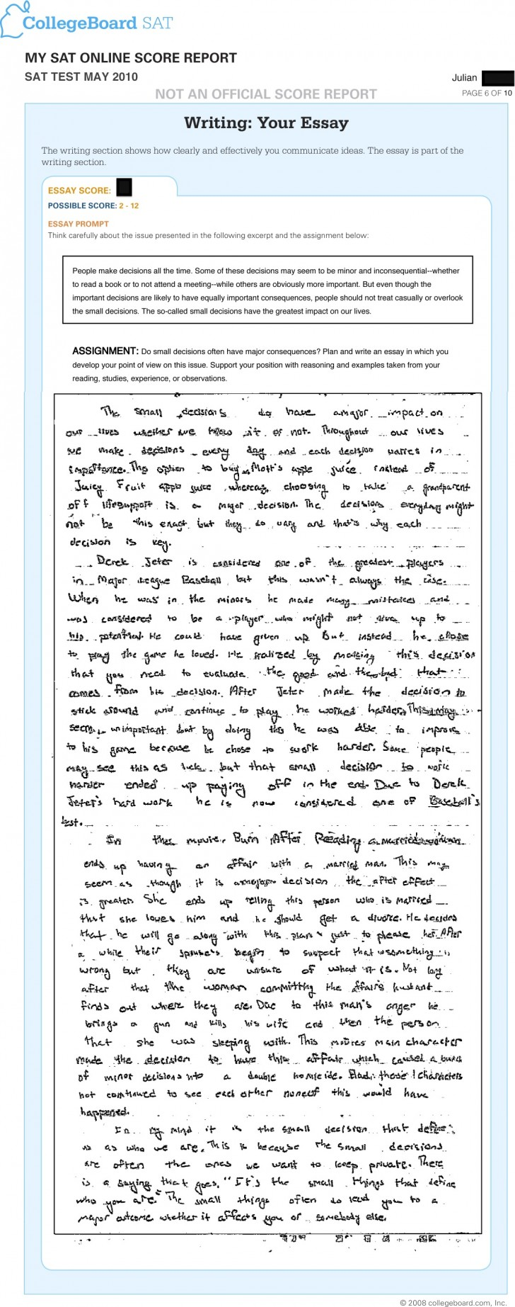 011 Essay Example Sat Prompts Jr May Surprising 2015 2017 Prompt June 728