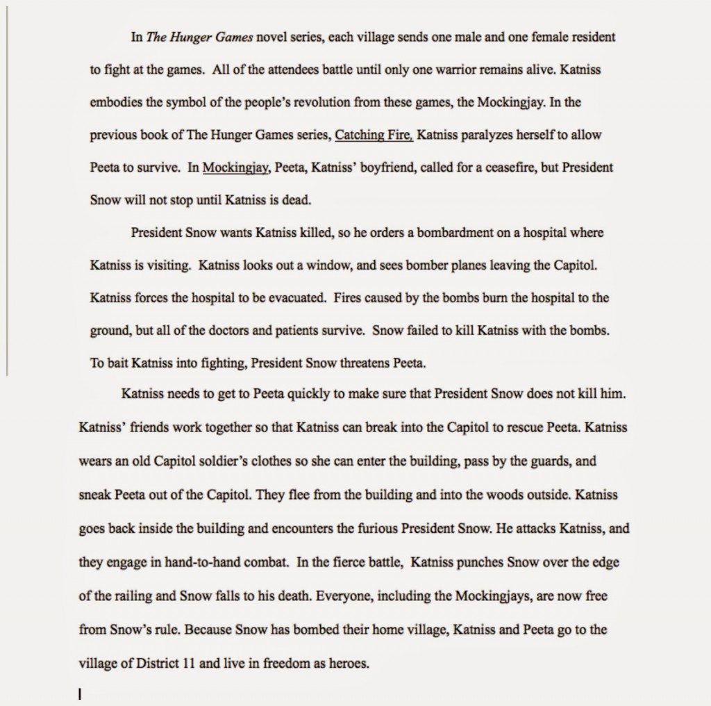 011 Essay Example The Hunger Games Book Review Imposing Large