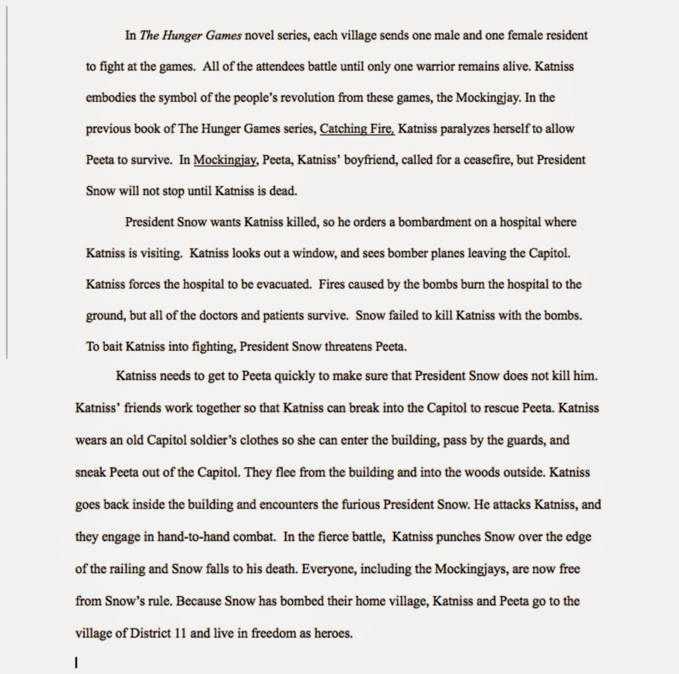 011 Essay Example The Hunger Games Book Review Imposing 1400