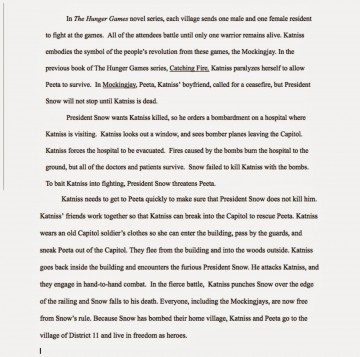 011 Essay Example The Hunger Games Book Review Imposing 360