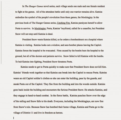 011 Essay Example The Hunger Games Book Review Imposing 480