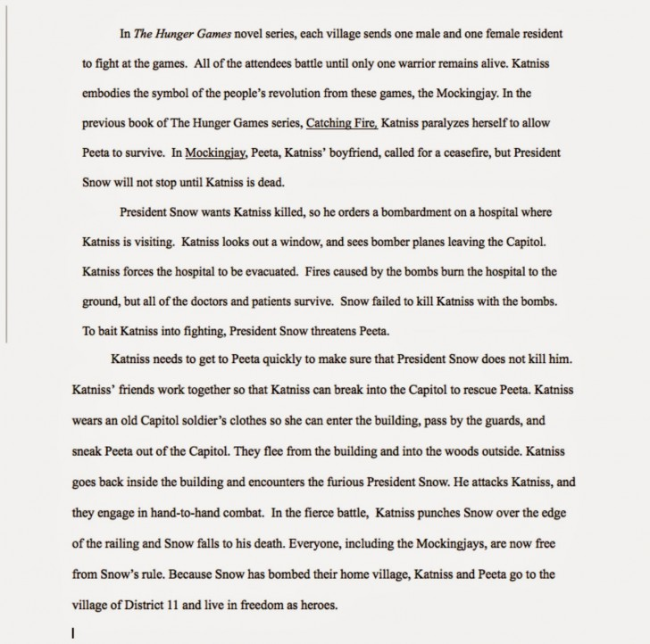 011 Essay Example The Hunger Games Book Review Imposing 728