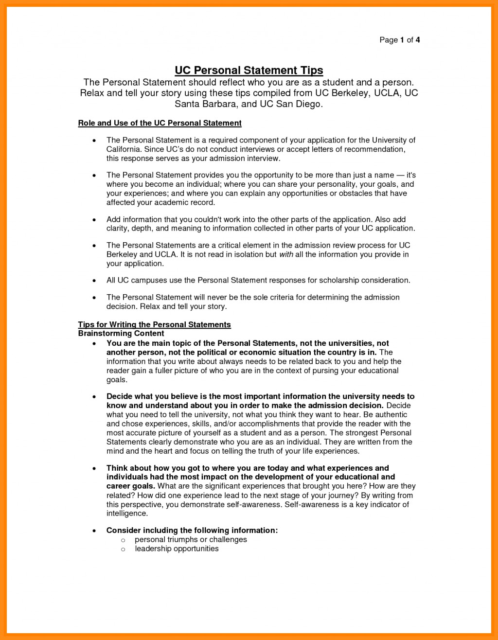 011 Essay Example Uc Personal Statement Prompt Examples Of Statements For Template Mrnpttfa Application Imposing Prompts 2015 2016-17 Berkeley Large