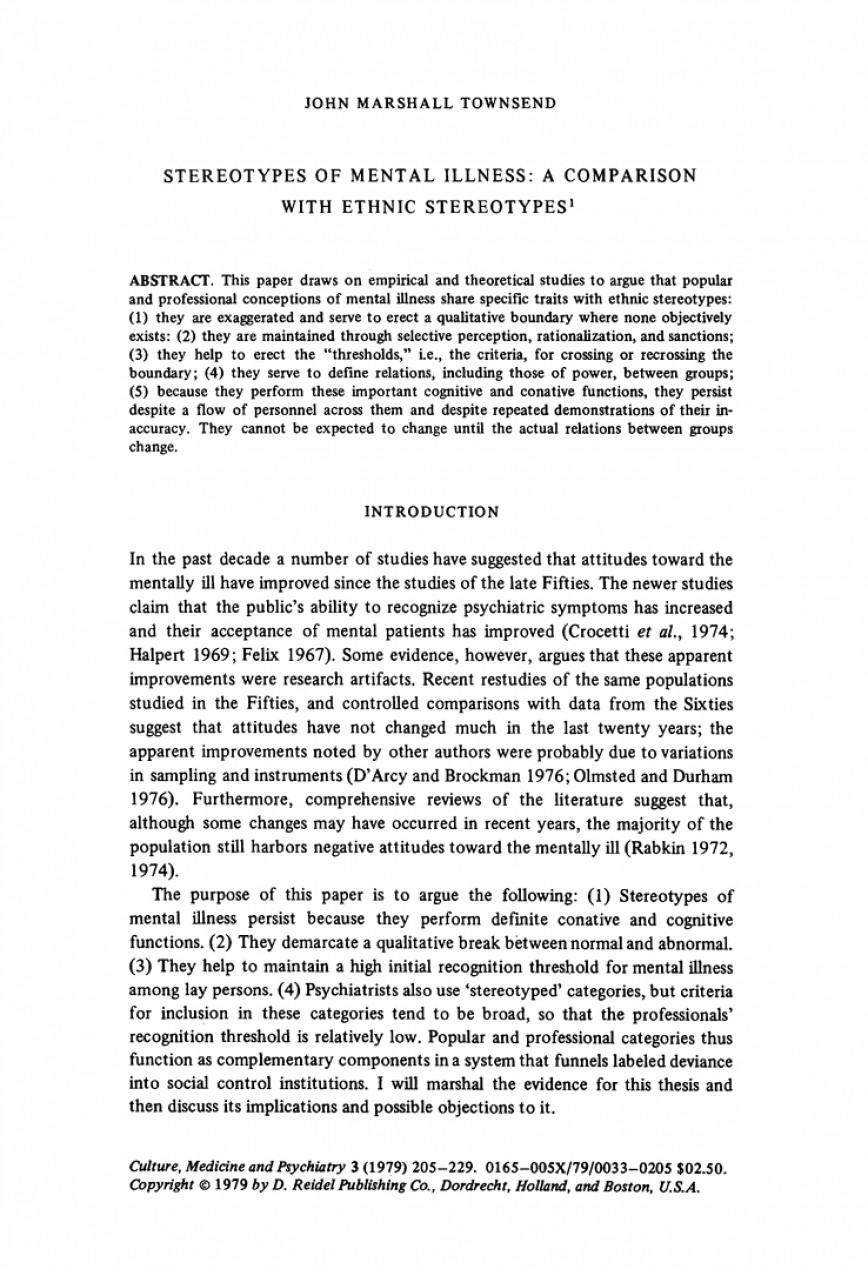 essay on diversity example stereotypes of mental illness    essay on diversity example stereotypes of mental illness comparison  with ethnic springer stereotype l breathtaking