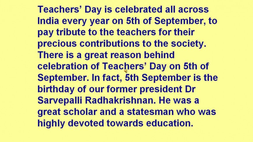 011 Essay On Teachers Day In India Maxresdefault Fascinating 868