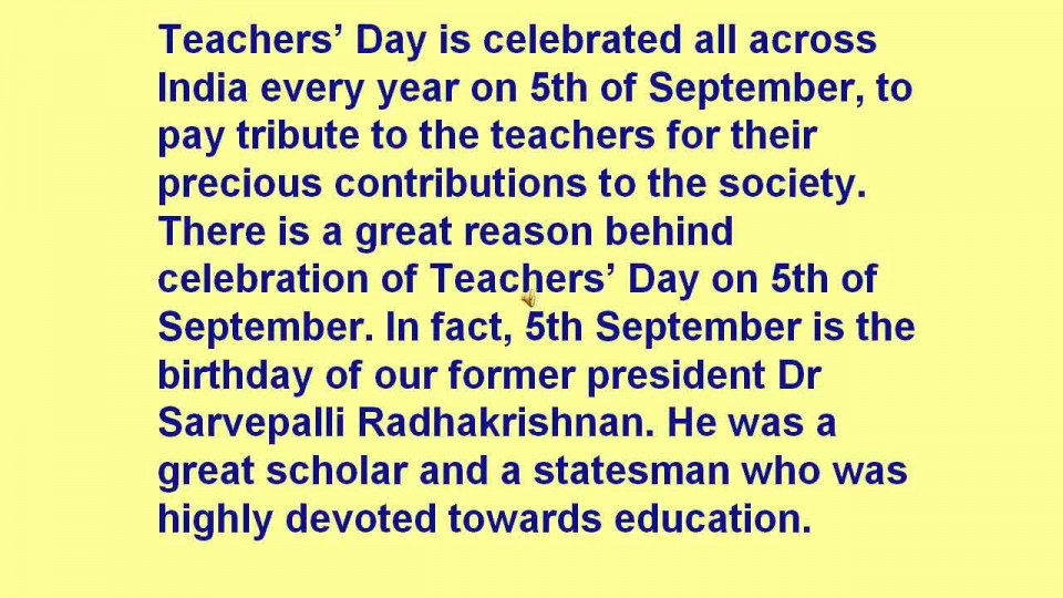 011 Essay On Teachers Day In India Maxresdefault Fascinating 960