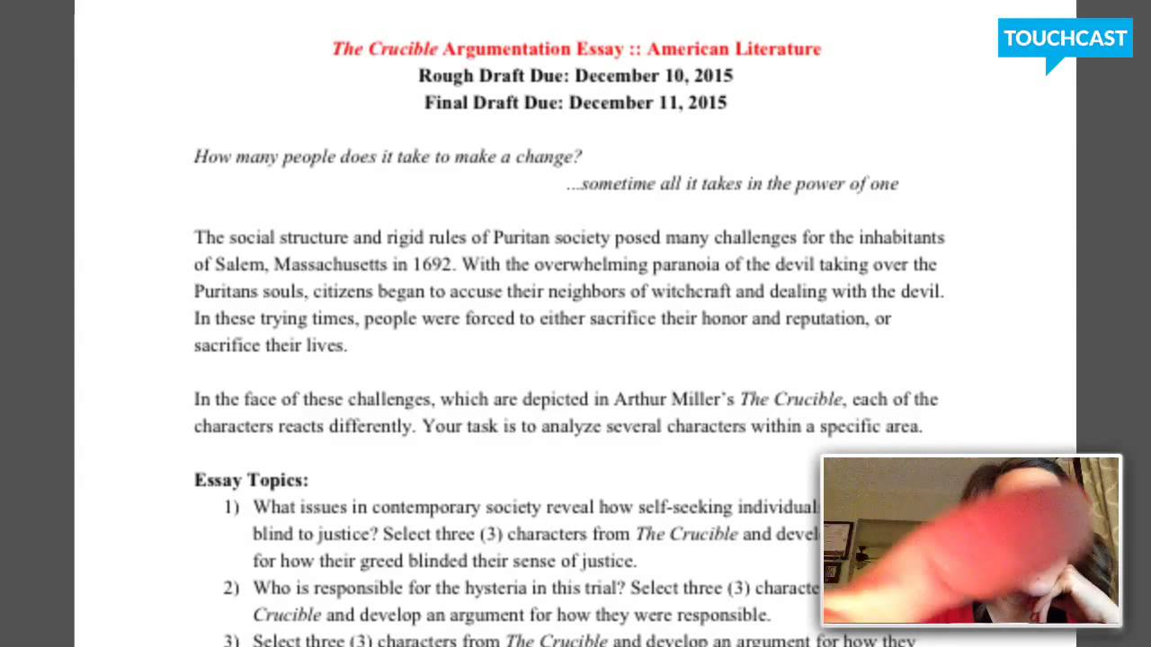 011 Essay On The Crucible Example Phenomenal And Red Scare Reputation Questions For Act 1 Full