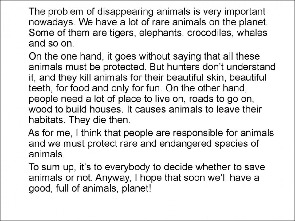 011 Essay Wild Life Slide What Can We Do To Save Wildlife Words In