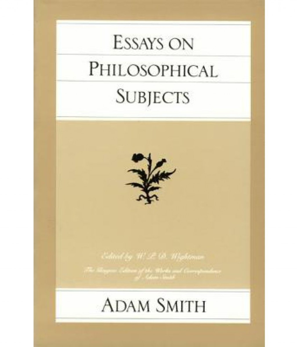 011 Essays On Philosophical Subjects Sdl274222681 Essay Best Summary Adam Smith Large