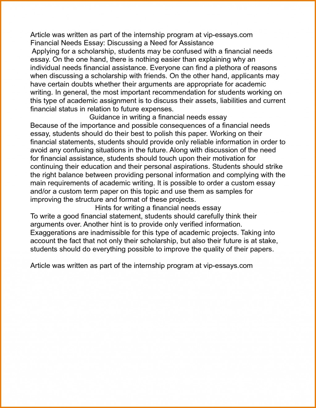 011 Examples Of Scholarship Essays On Financial Need Essay Writings And Pdf Inten Best Large