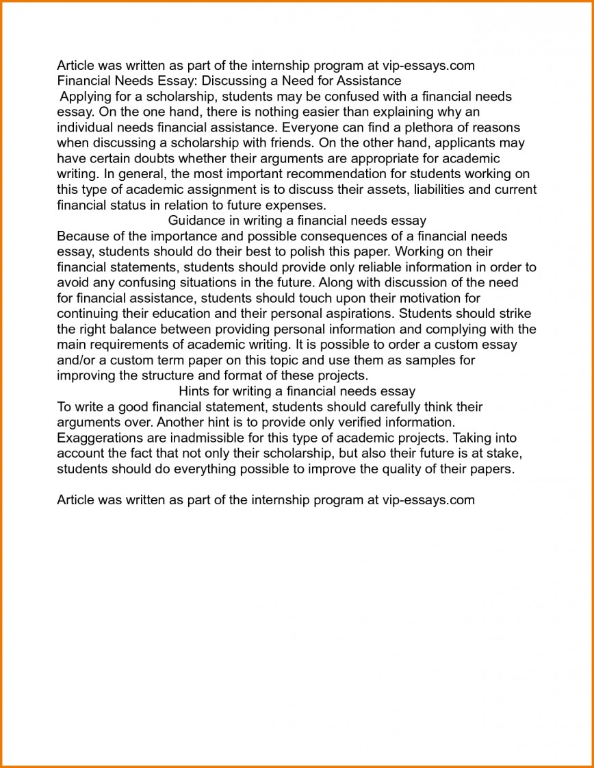 011 Examples Of Scholarship Essays On Financial Need Essay Writings And Pdf Inten Best