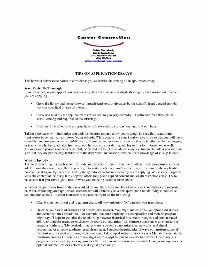 011 Fsu Essay Prompt Example Samples University Application Examples Sample Gb6xr Florida State Unique Care Program 868