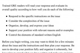 011 Gmat Essay Examples Example Gre Argument Template Essaytips Report Paper Topics How Analytical Writing Samp Score Waiver Top Sample 6 Awa 320