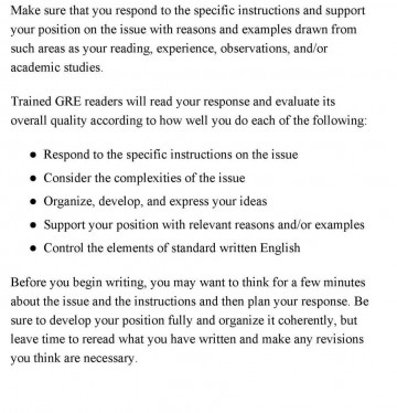 011 Gmat Essay Examples Example Gre Argument Template Essaytips Report Paper Topics How Analytical Writing Samp Score Waiver Top Sample 6 Awa 360
