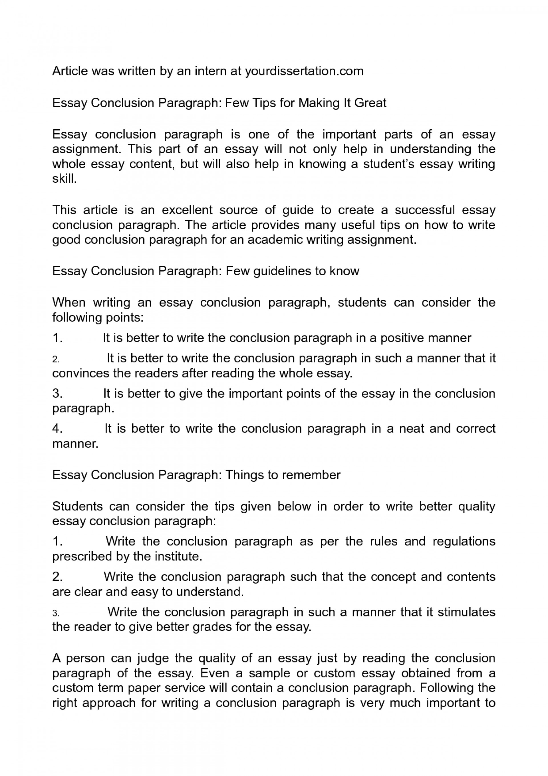 011 Good Conclusion For An Essay Example Wondrous A Paragraph Argumentative How To Write 1920