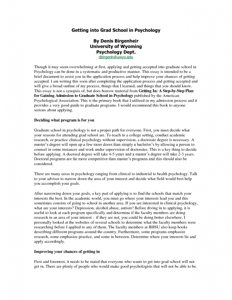 Education program admission essay