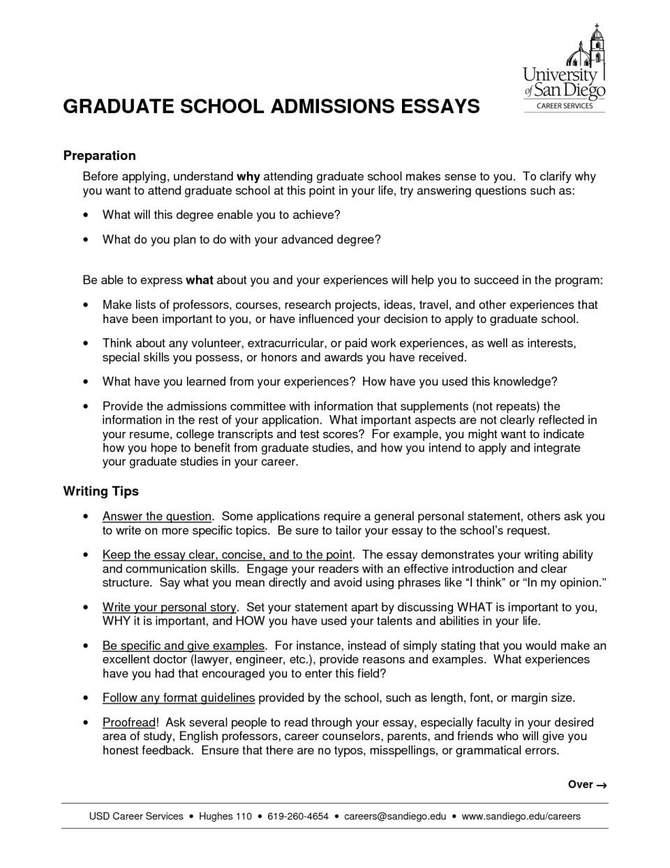 Graduate school essay review service
