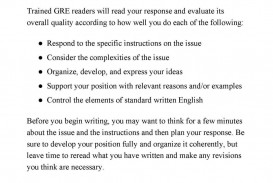 011 Gre Argument Essay Template Example Analytical Writing Sample Essays Frightening