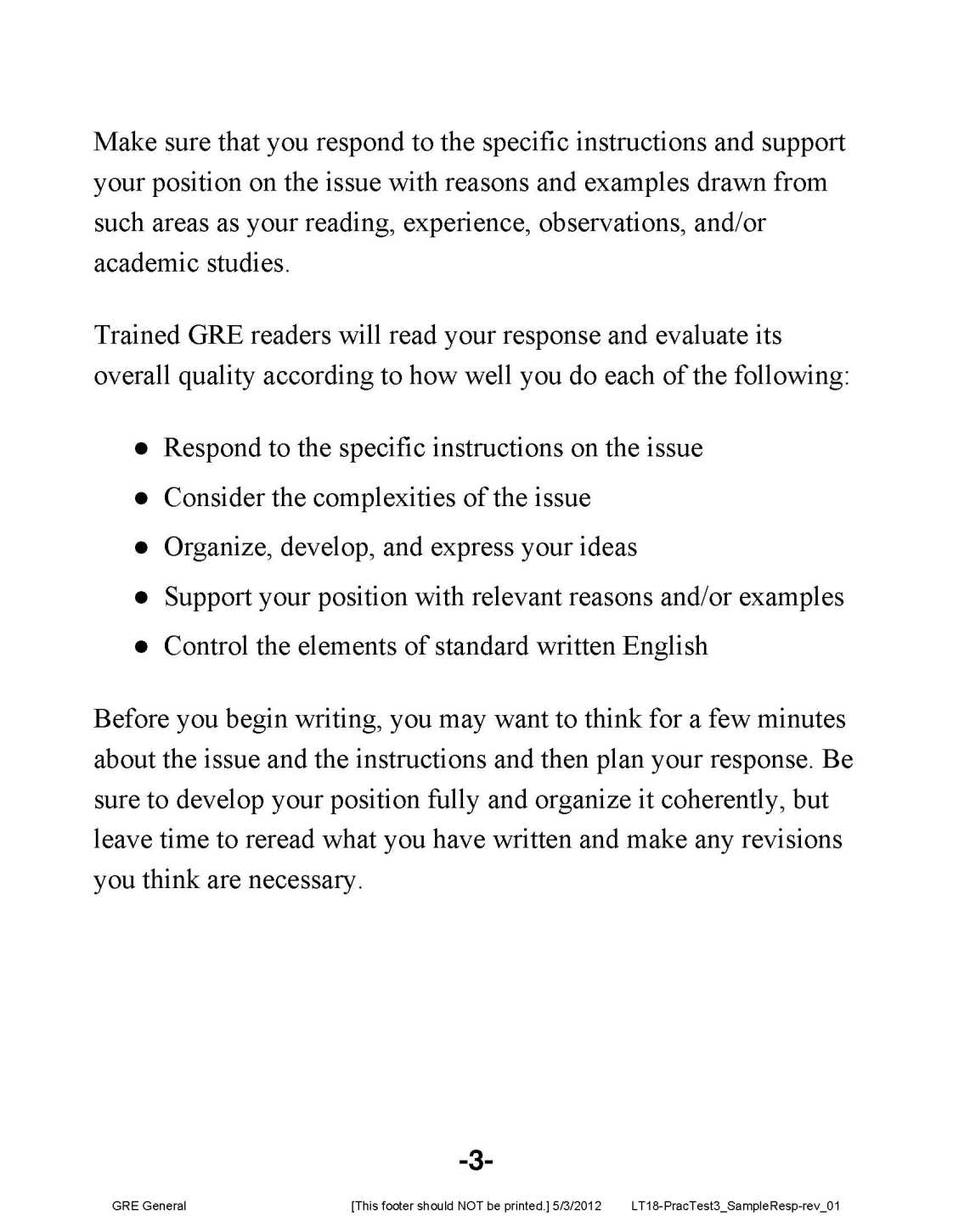 011 Gre Argument Essay Template Example Analytical Writing Sample Essays Frightening Full