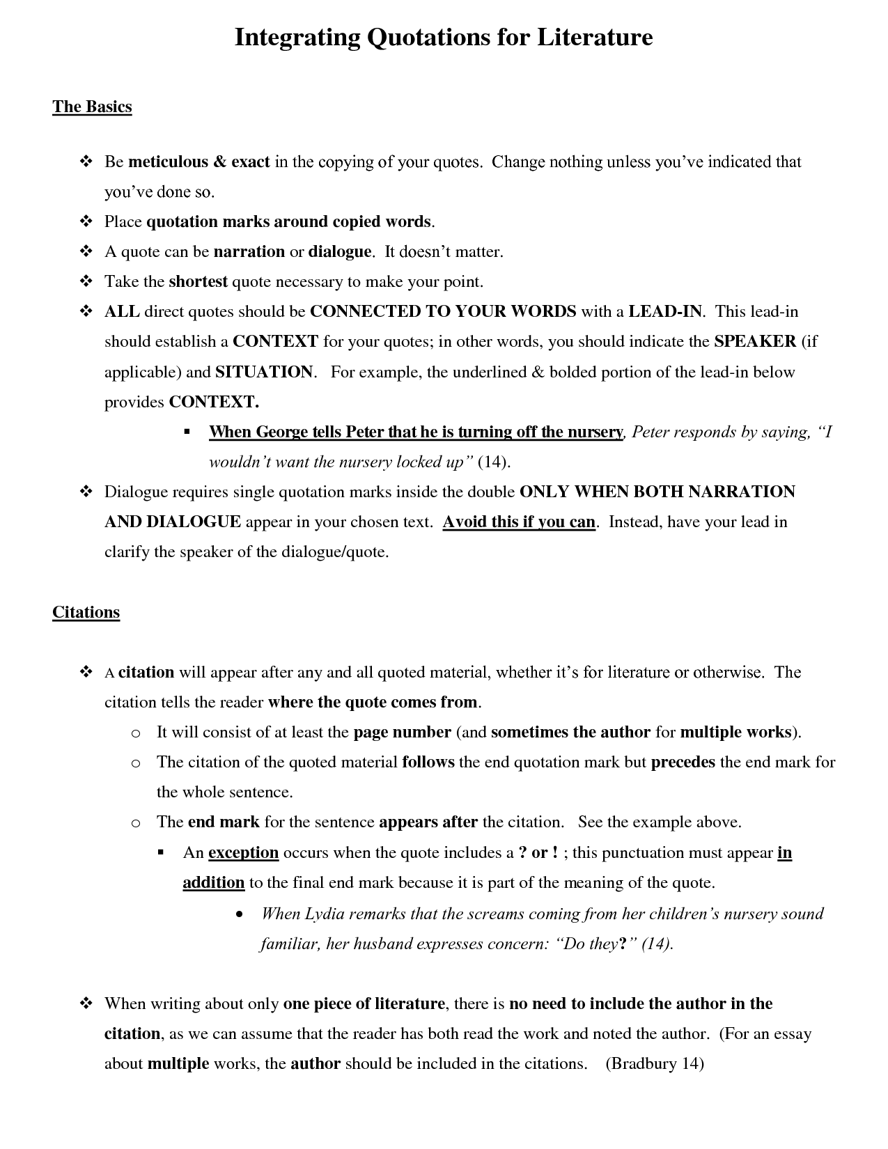 011 How To Incorporate Quotes In An Essay Integrating Shocking Into Mla Integrate Full