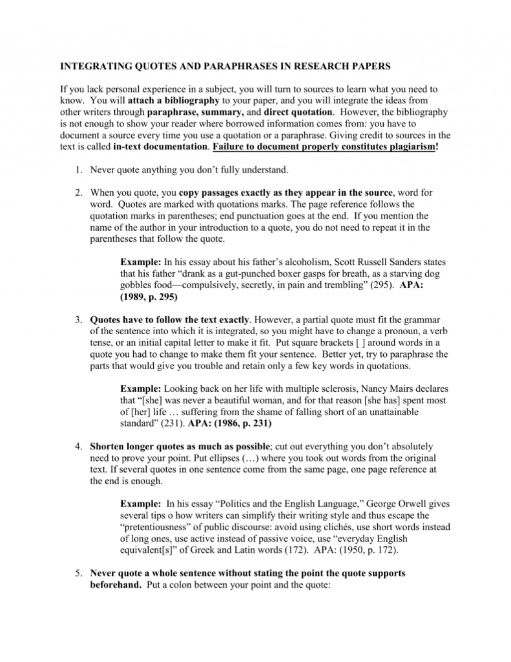011 How To Put Quotes In An Essay Example 008360018 1 Remarkable A Quote Apa Format Large