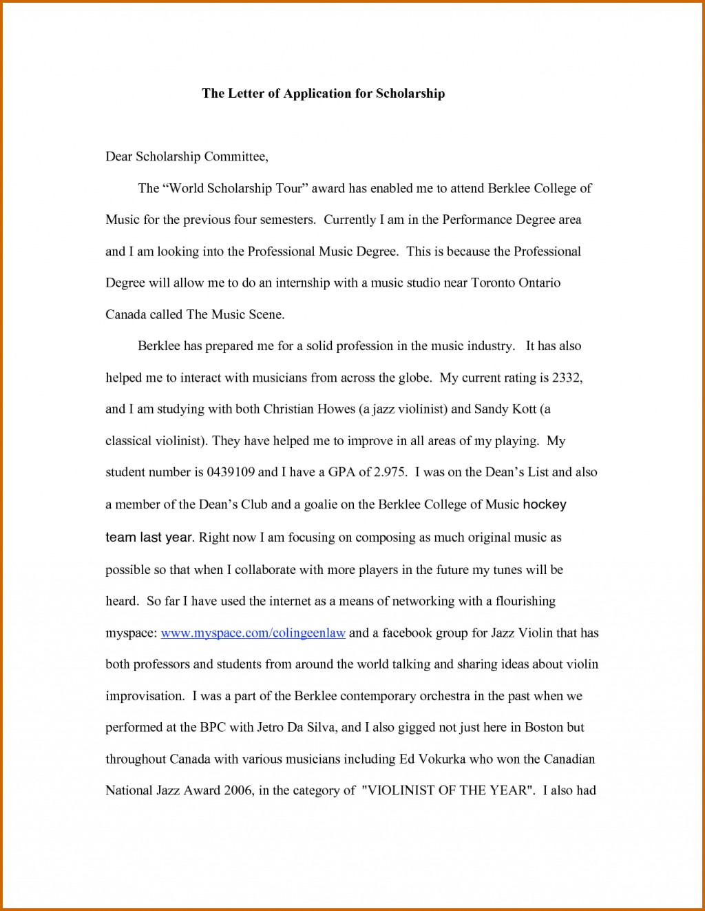 011 How To Write Application For Scholarship Essay Example Impressive A Good About Yourself Samples Study Abroad Large