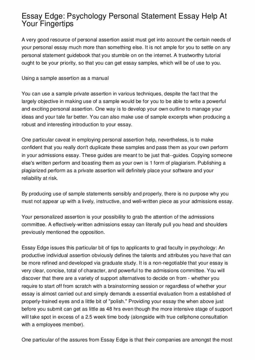 011 Howessayedgeeditingserviceworks Phpapp02 Thumbnail Essay Edge Unusual Essayedge Personal Statement Review Pricing Large