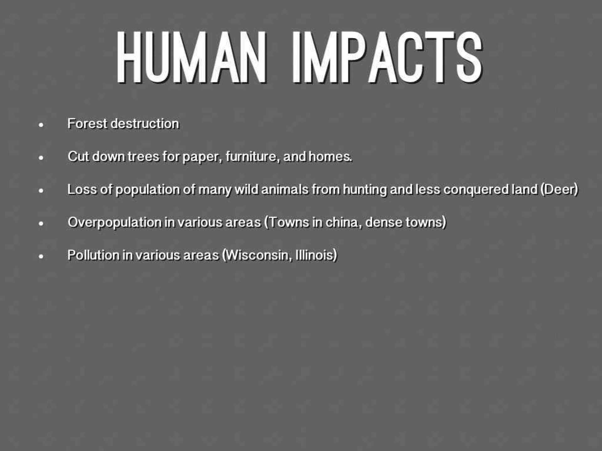 011 Human Impact On The Environment Essay Topics Example About Nature And Impressive 1920