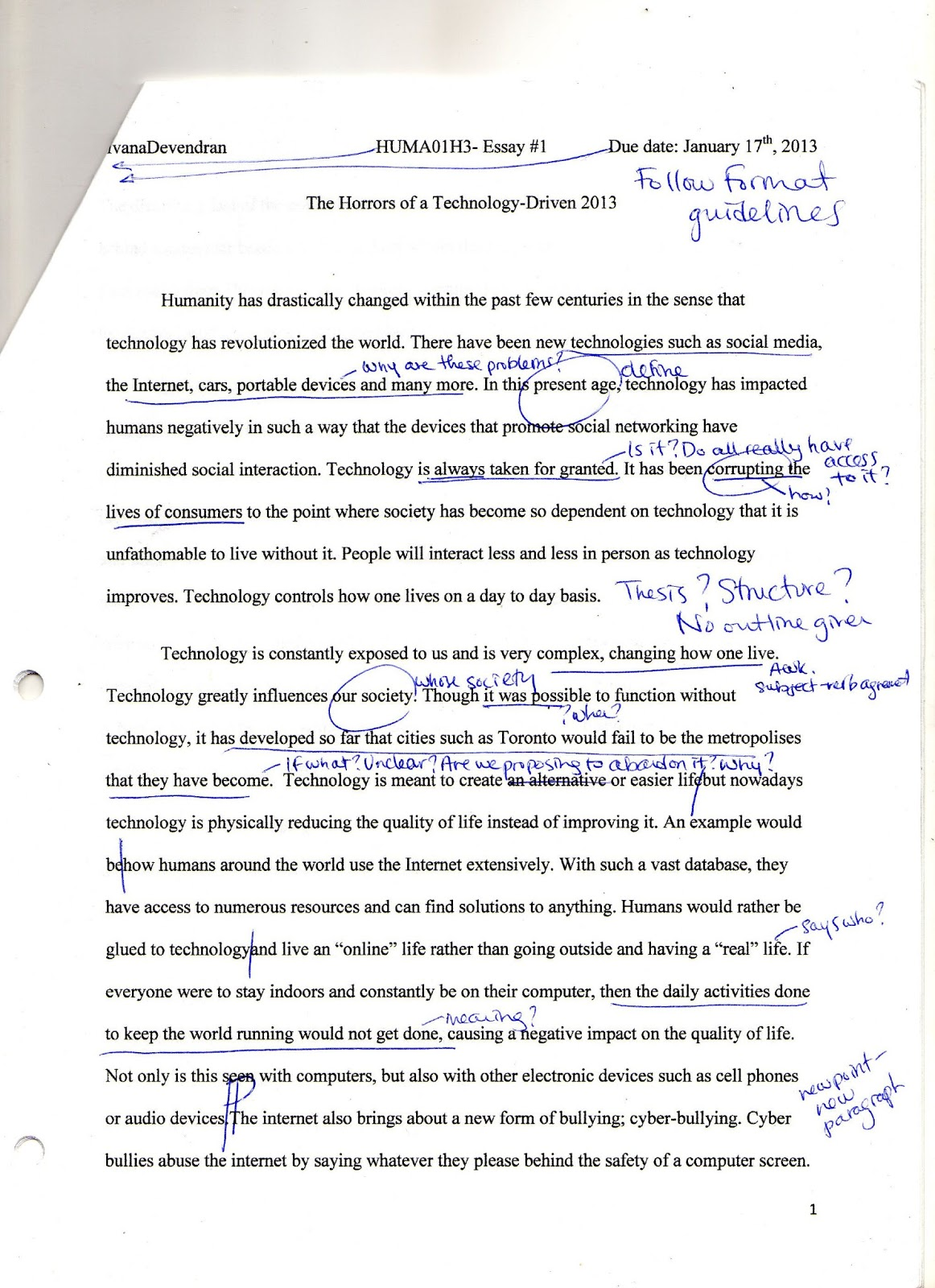 011 Img008 Essay Example How Technology Has Changed Our Awesome Lives Pdf On For The Worst Full