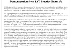 011 Is On The Sat Essay Good Example Satessaystrategydemonstrationsimage18 Unbelievable A 6 New Out Of 8