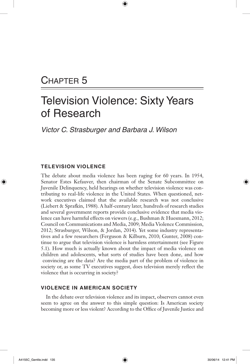 television violence on society
