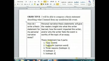 011 Maxresdefault Essay Example Thesis Statement For Staggering Narrative The A Should Be Created During Generator 360