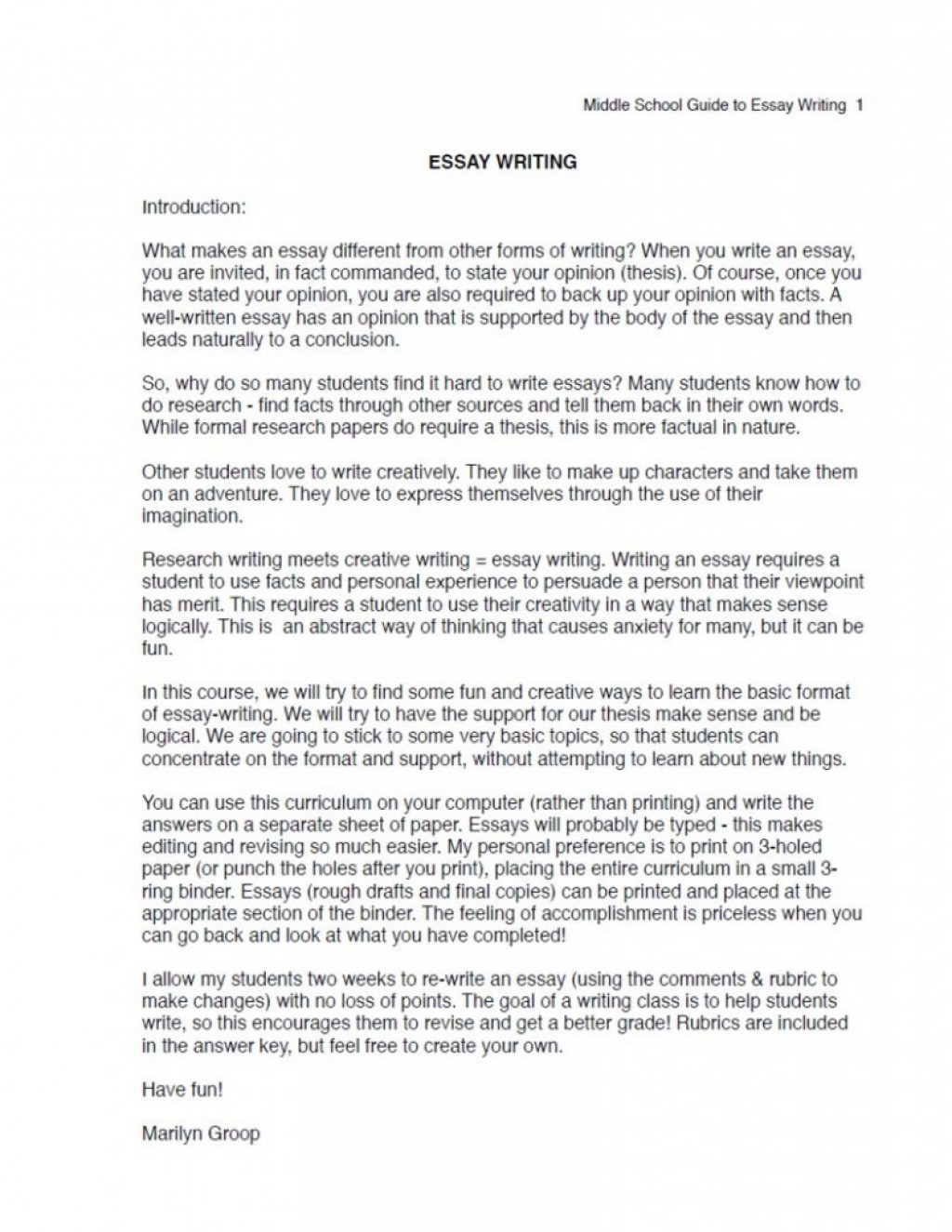 011 Ms Essay Excerpt 791x1024cb Middle School Topics Archaicawful Prompts Argumentative Funny For Large