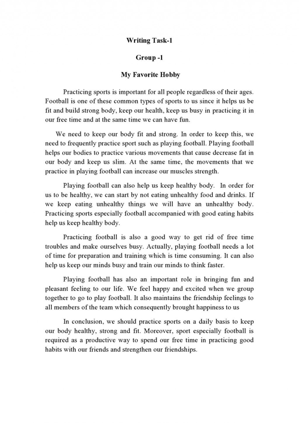 011 My Hobby Essay Example Writing Task One Blended Learning Environment W T Final Dr Write An On Gardening In English About Your Favorite Impressive Urdu Class 7 Hindi Cricket Marathi Large