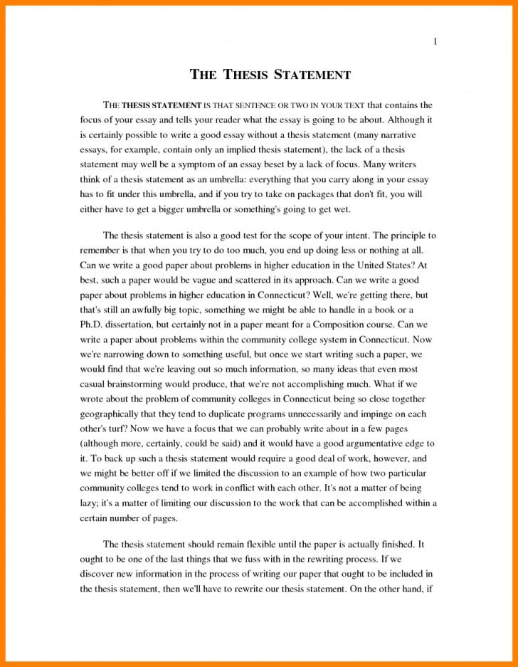 011 Narrative Example Essay High School Personal Examp Examples Short Unique Pdf 728