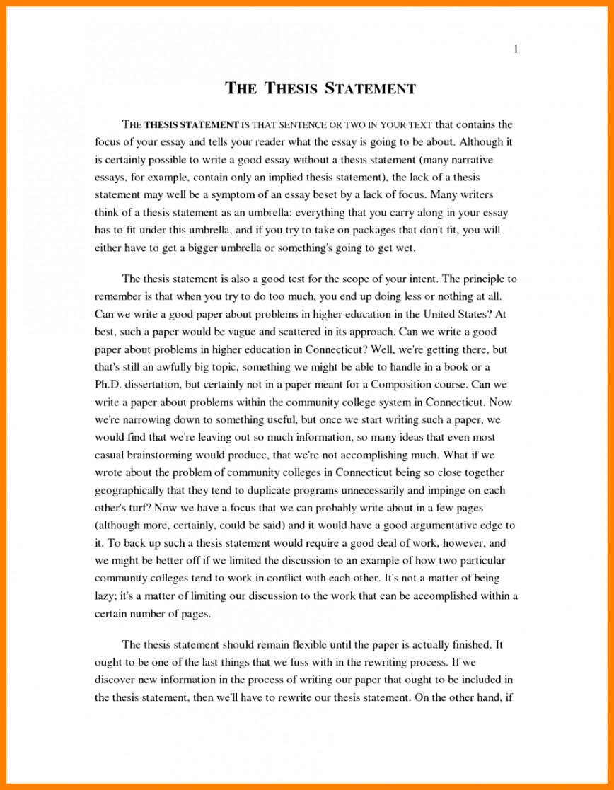 011 Narrative Example Essay High School Personal Examp Examples Short Unique Pdf 868