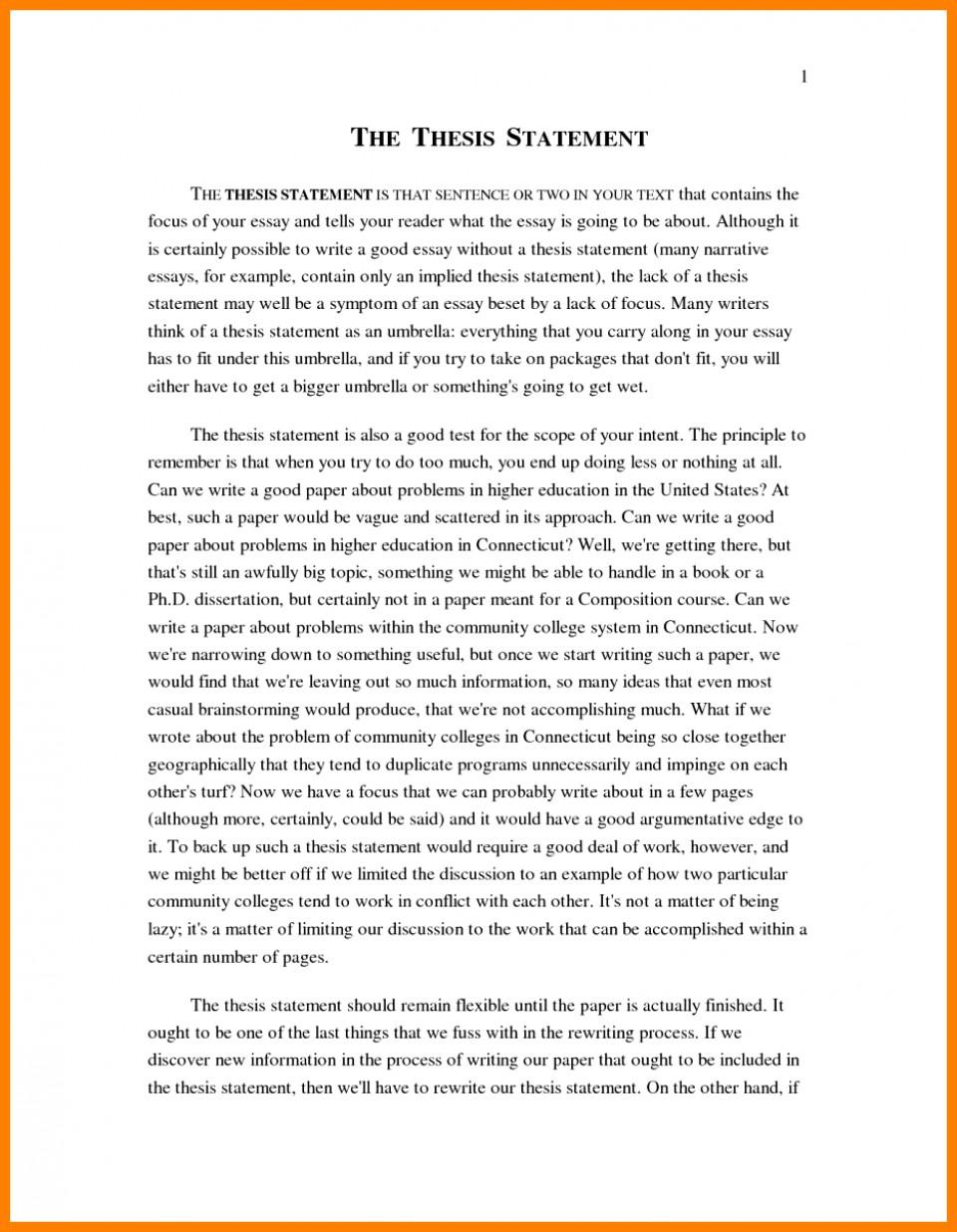 011 Narrative Example Essay High School Personal Examp Examples Short Unique Pdf 960