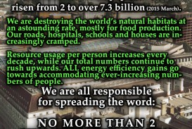 011 No More Than 2 Children Per Family Cause And Effect Of Overpopulation Essay Remarkable