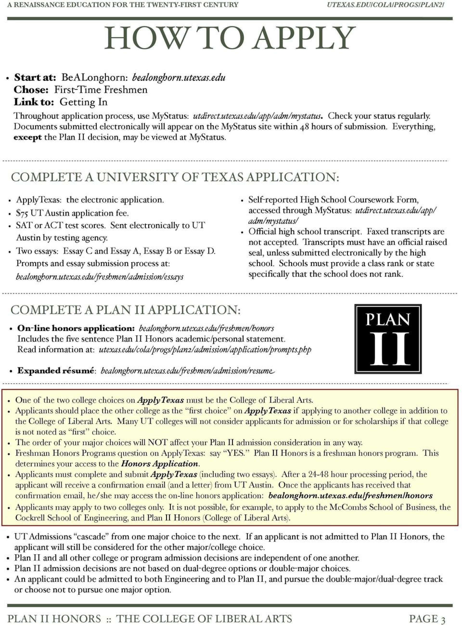 011 Page New Apply Texas Essays Topics Archaicawful Essay Application Fall 2018 Prompt C Example 1920