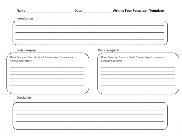 011 Paragraph Essay Example Writing Four Fearsome 6 Outline Template Format 728