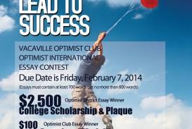 011 Postivie Outlook Essay Contest Final Example Optimist Wondrous International Winners Due Date Oratorical