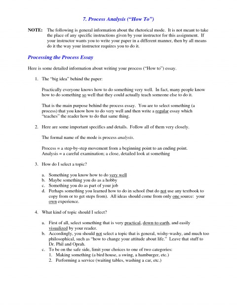 011 Process Essay Examples What Is Analysis Example Of L Best Free Pdf Cooking Middle School 480