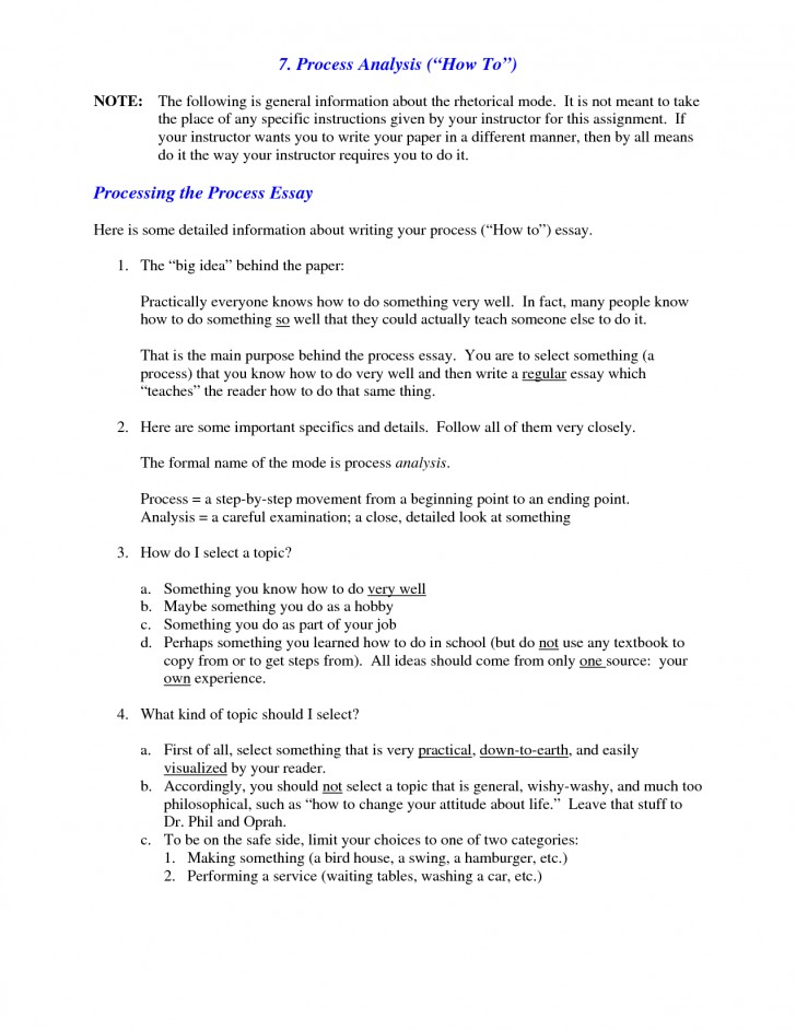 011 Process Essay Examples What Is Analysis Example Of L Best Free Pdf Cooking Middle School 728